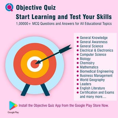 MCQ Questions - Objective Quiz App