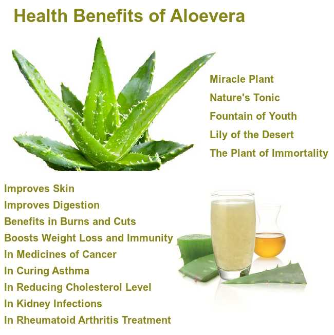 health benefits of aloevera