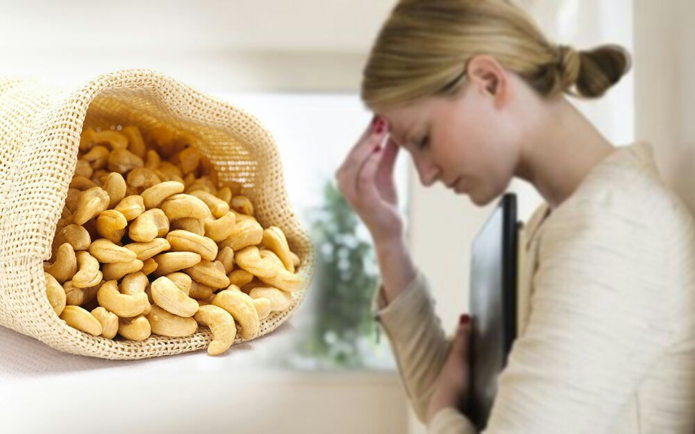 How Cashews helps in Stress, Anxiety and Depressiom