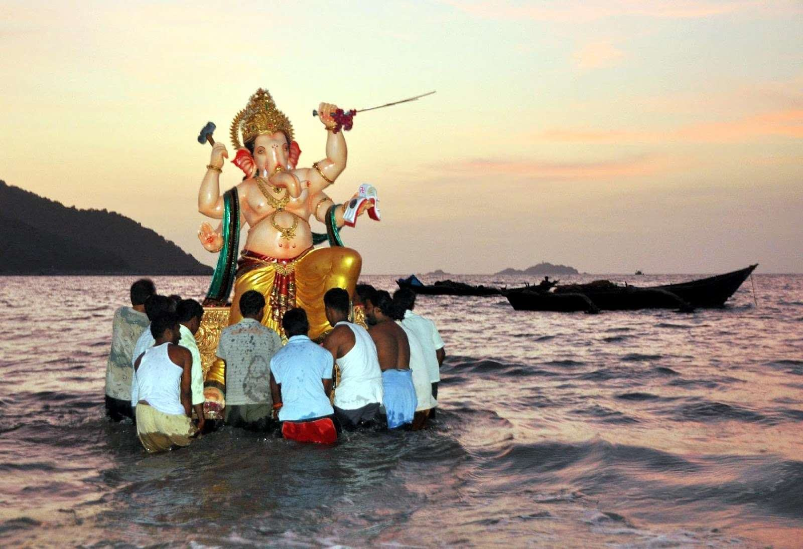 Why do we do Visarjan of Ganpati Bappa in Water