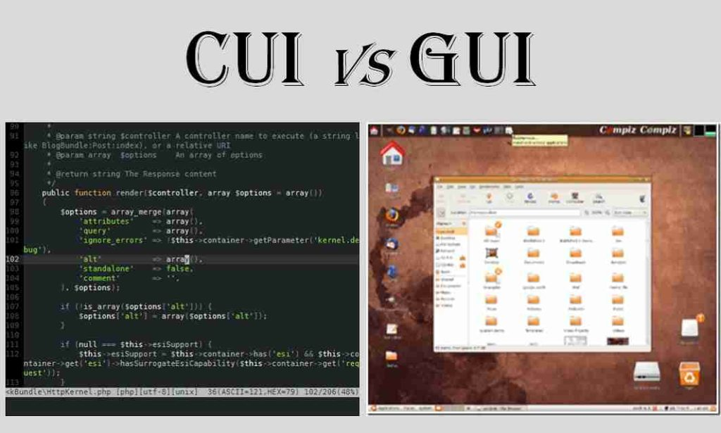 Difference between CUI and GUI