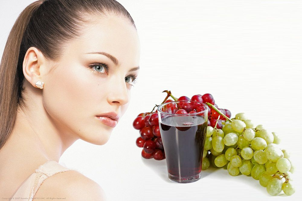 Benefits of Grape Juice for Clean Skin, Hair and Health